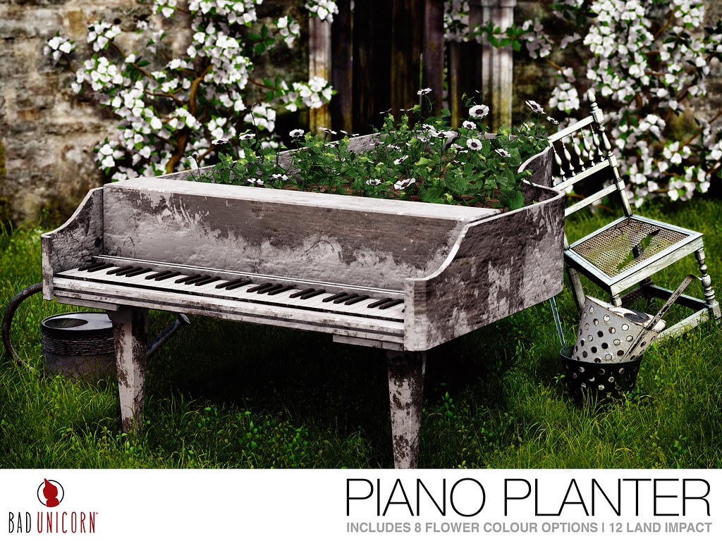 MadPea Spring Hunt Collaborator – Bad Unicorn – Piano Planter!