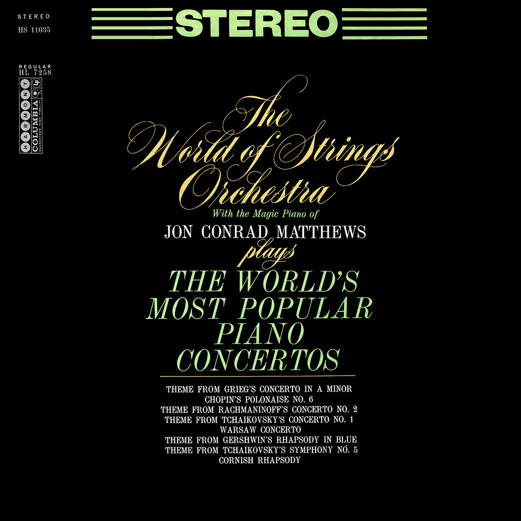 Jon Conrad Matthews ‎– The World's Most Popular Piano Concertos