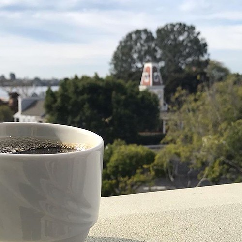 Coffee on a patio; is that how we start the day now? Today at least.