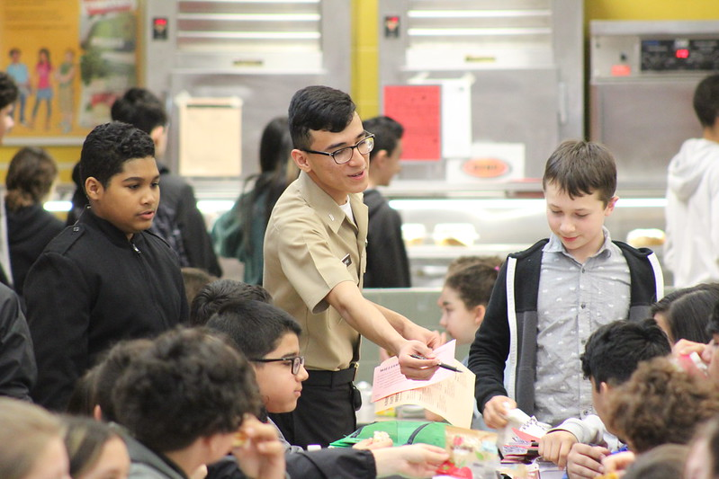NJROTC 8th Grade Recruiting Visit