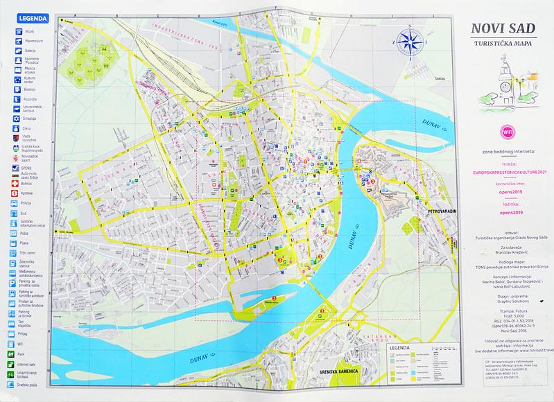 Большая карта Нового Сада для туристов
