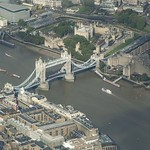 Tower Bridge & Tower of London from the air