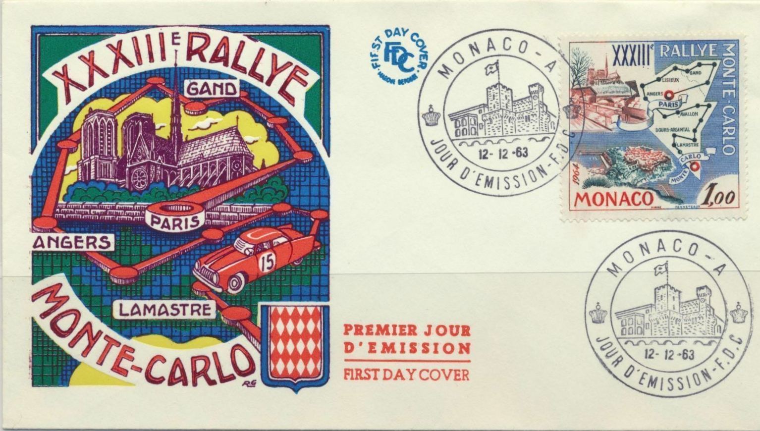Monaco - Scott #549 (1963) first day cover