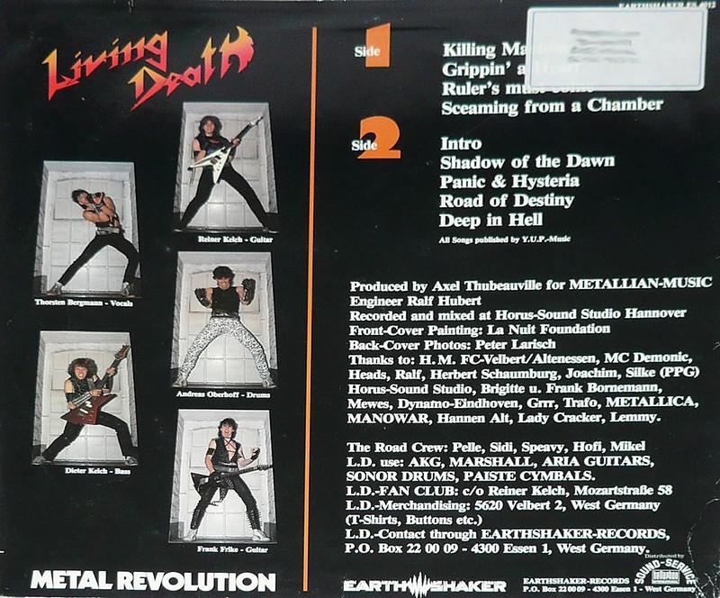 "LIVING DEATH METAL REVOLUTION EARTHSHAKER 12"" Vinyl LP"