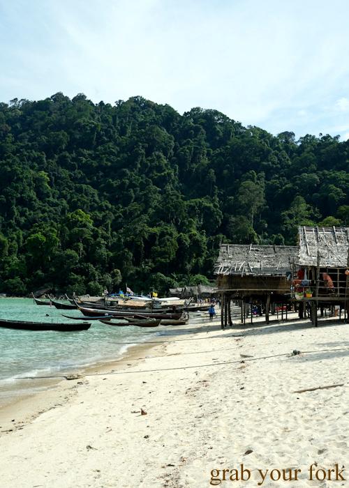 Moken village in Au Bon Yai Bay, Surin Island, Khao Lak, Thailand