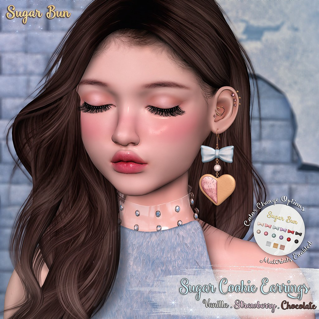 .SugarBun. Sugar Cookie Earrings @Etoile - TeleportHub.com Live!