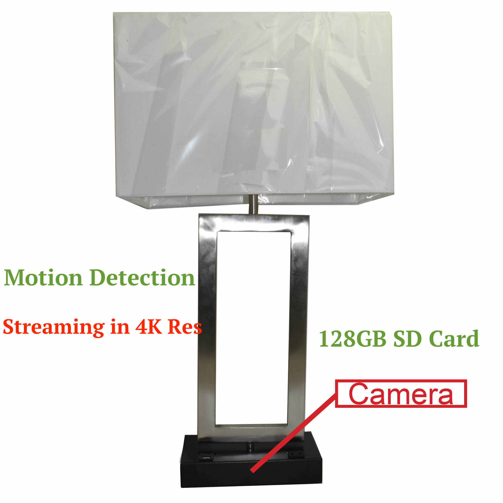 Wireless Spy 4K Camera With Wifi In Functional Table Lamp