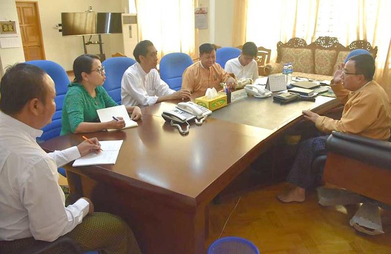 Meeting with Speaker of Bago Region Hluttaw