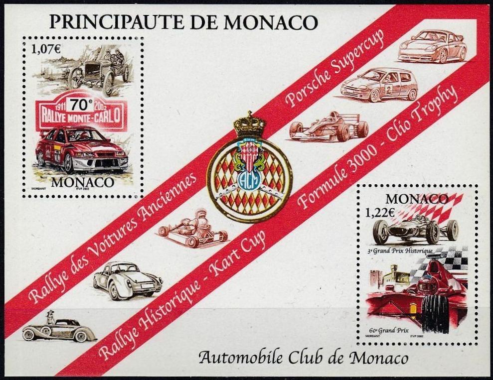 Monaco - Scott #2240 (2002) souvenir sheet