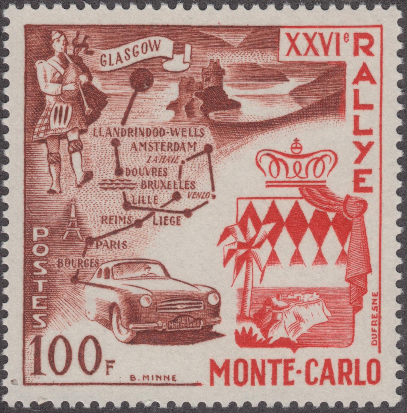 Monaco - Scott #365 (1956)