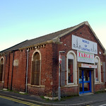 Target Electrical Supplies, lighting shop installed in the former infants school of St Thomas church