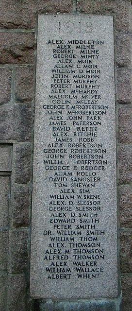 Name son Cruden Bay War Memorial