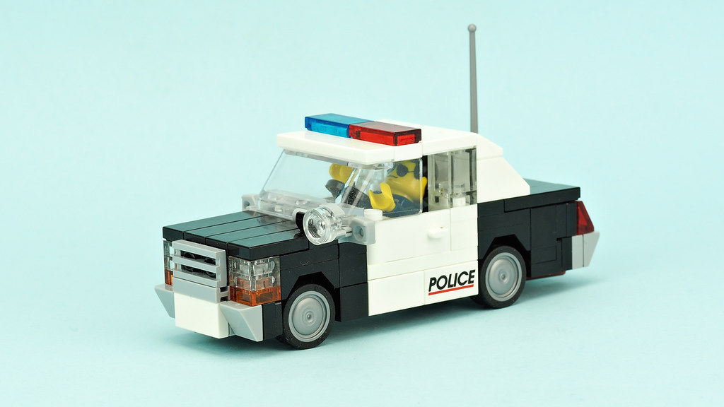 Old police car Ford Crown Vic