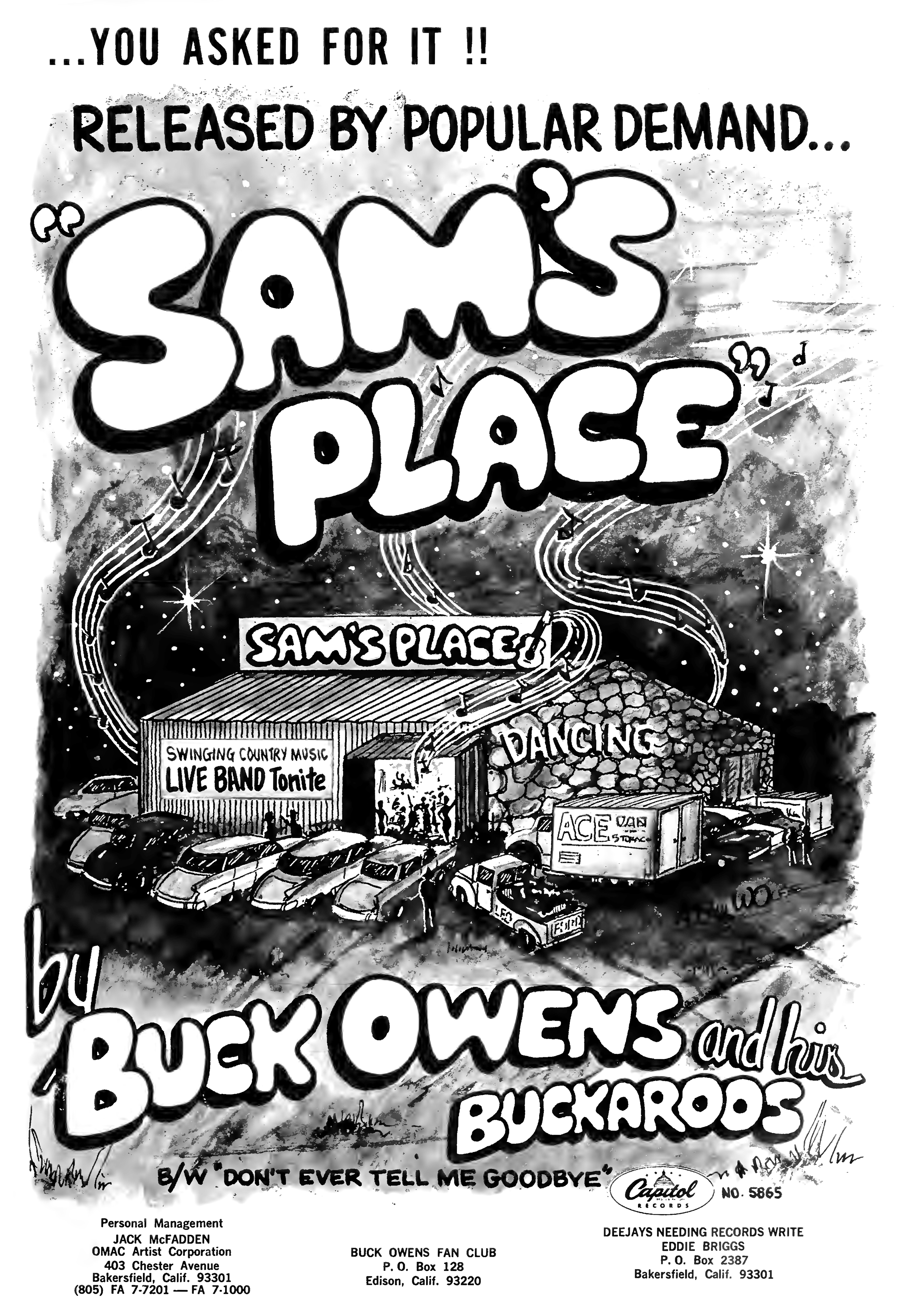 Buck Owens and His Buckaroos - 'Sam's Place' - Capitol Records - 1967