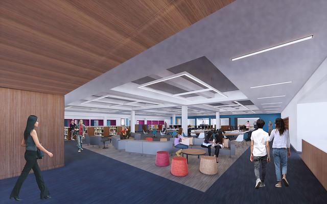 Renderings Copley Library Reimagining