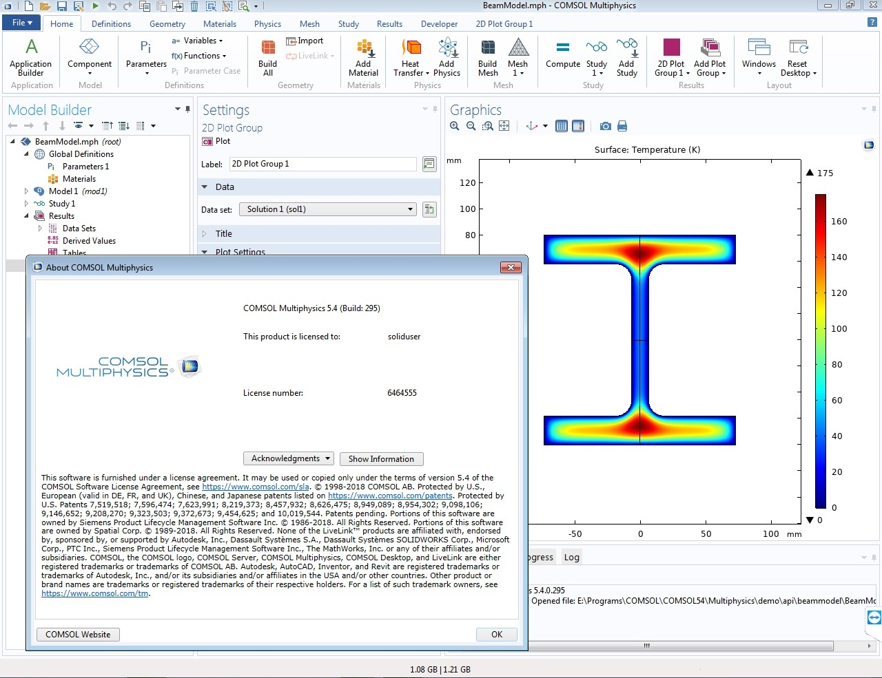 Working with COMSOL Multiphysics 5.4.0.295 x64 full license