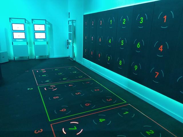 Zona de ejercicios interactivos, PRAMA fitness