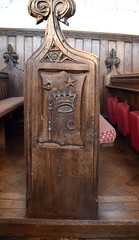 passion symbols bench end