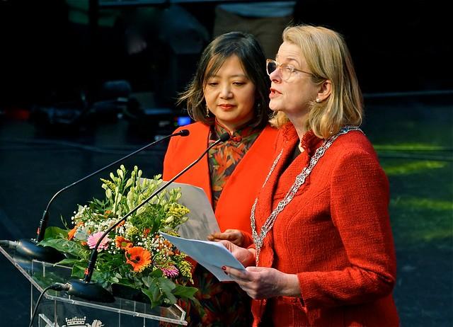 Photo:Burgemeester Pauline Krikke opende het Chinees nieuwjaar By Roel Wijnants
