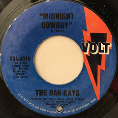 THE BAR-KAYS:MIDNIGHT COWBOY(LABEL SIDE-A)