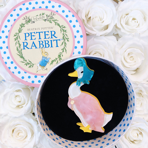 Erstwilder Beatrix Potter Peter Rabbit Jemima Puddle Duck Brooch