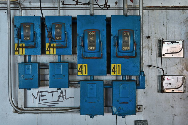 Blue electrical boxes 2