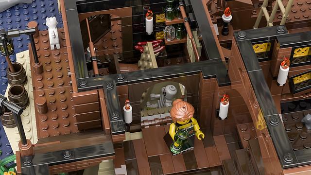 矗立在危險海域上的海盜堡壘!! Bricky_Brick 樂高MOC 作品【海盜灣】The Pirate Bay