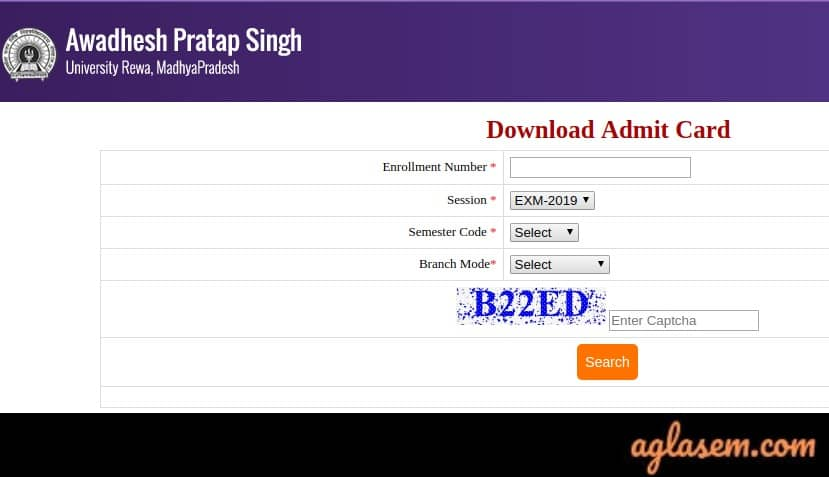 Awadhesh-Pratap-Singh-University-Admit-Card-Aglasem