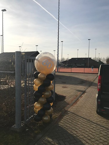 Ballonpilaar Breed Rond 60 Tennisvereniging TVO Oud Beijerland