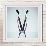 Tooth Art Brush Couple Close Frame