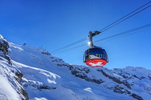 schnee berge engelberg landschaft schweiz winter