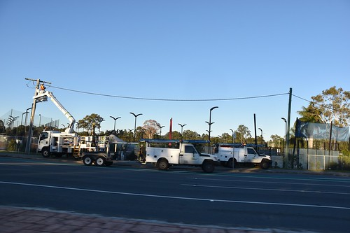 Energex pole works @ Carrara