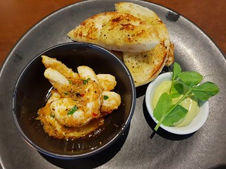 Garlic Prawns at The Green Edge Christmas Dinner