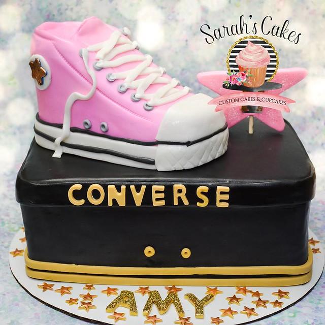 Converse Birthday Cake by Sarah's Cakes