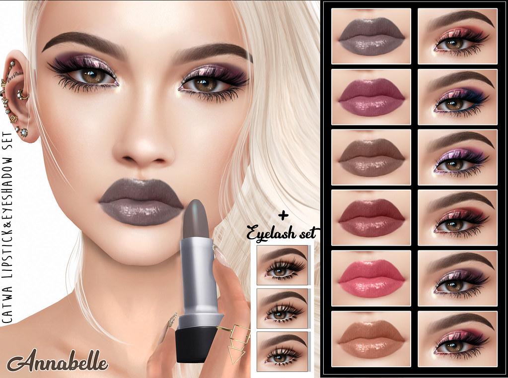 [LeLuck]Lipstick&Eyeshadow Set Annabelle - TeleportHub.com Live!