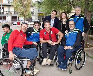 Parte degli atleti paralimpici con Elisa Belfiori a Grumo Appula
