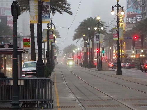 Streetcar in the mist
