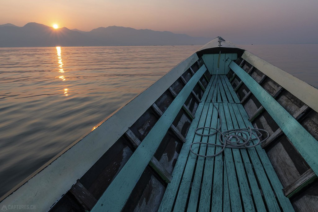 On the boat - Inle Lake