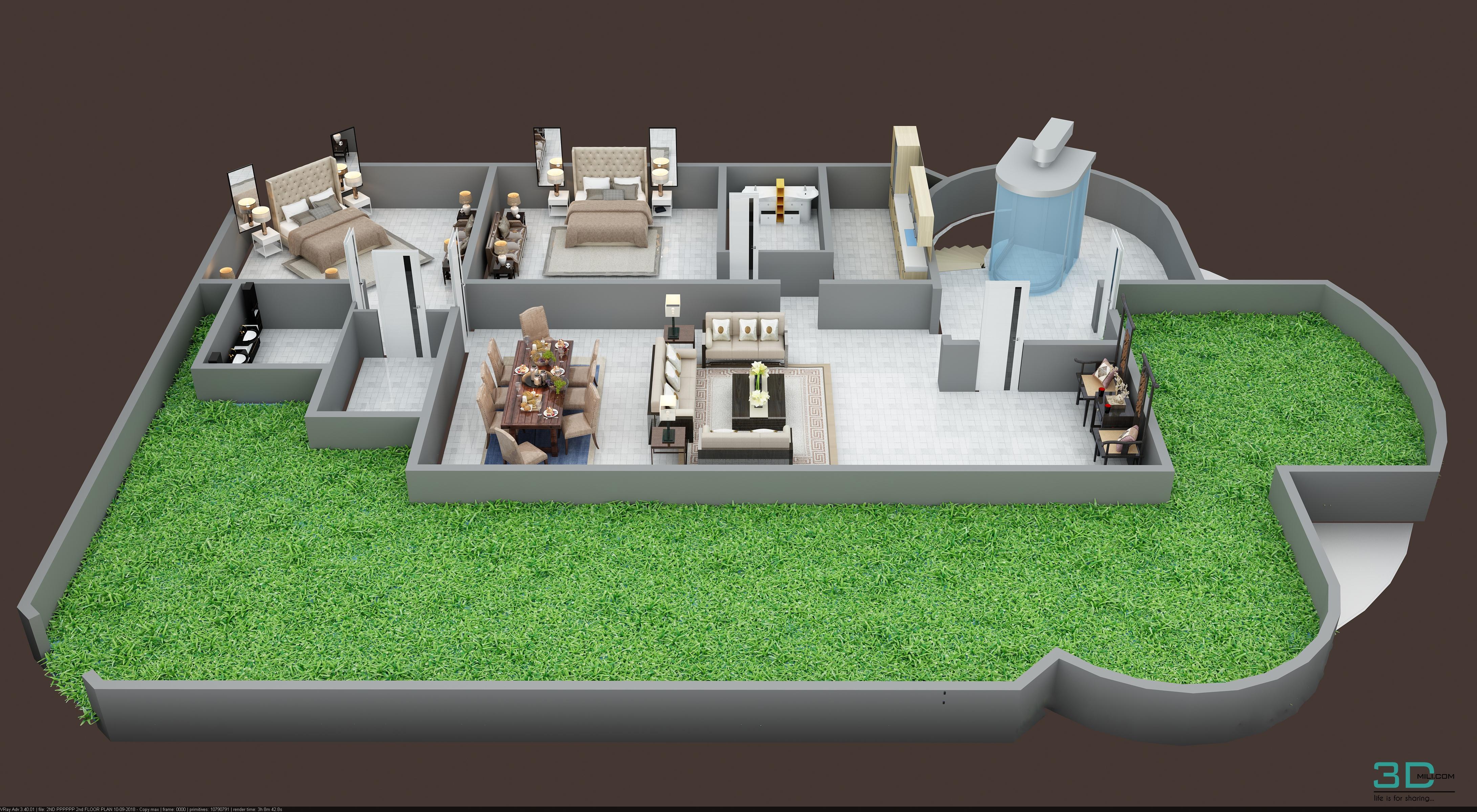 3d Floor Plan Of 2nd Floor Plan 3d Mili Download 3d