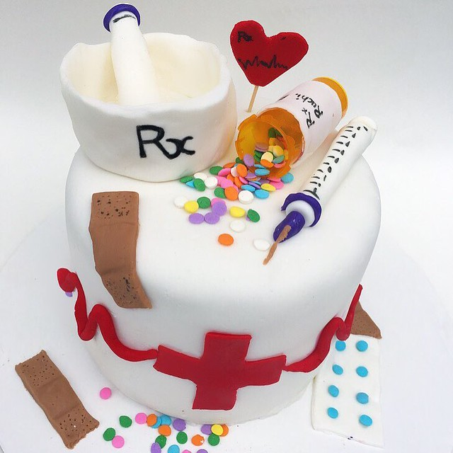 Pharmacy Theme Cake by Fancy Frostings
