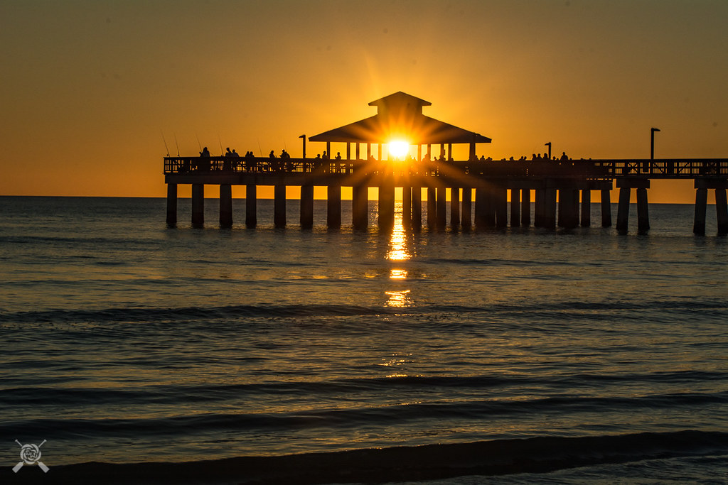 Ft Myers Beach Sunset – 9637 | Fort Myers Beach Florida – Beach Wallpaper by NWPaddler