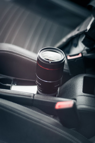 Samyang 35mm f1.4 lens on the seat of VW Scirocco from Toni Hoffmann