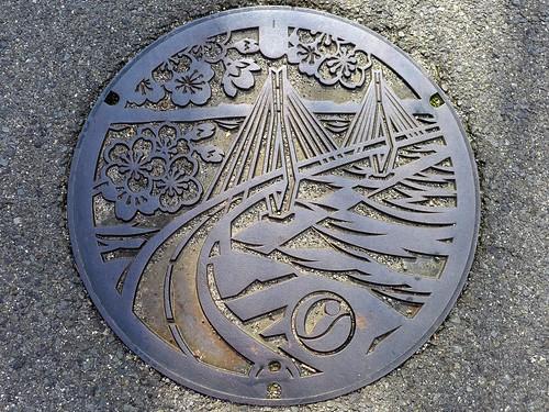 Kamiura Ehime, manhole cover (愛媛県上浦町のマンホール)