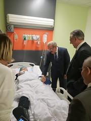 Danilo Medina acude al Hospital Darío Contreras, para conocer estado de salud de diputada Karen Ricardo