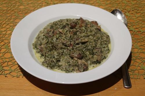 Grünkohl-Champignon-Eintopf