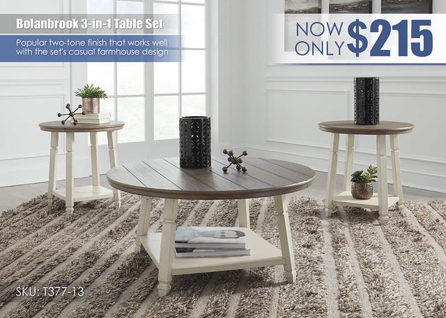 Bolanbrook Table Set_T377-13