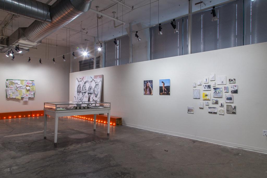 installation photo of the show: future tense present