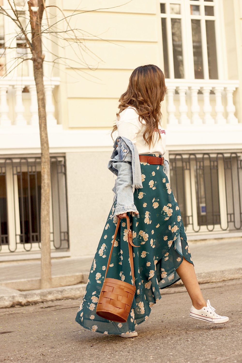 floral maxi converse skirt tshirt find amazon fashion street style outfit 20196