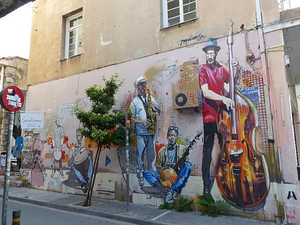 fresque aux musiciens