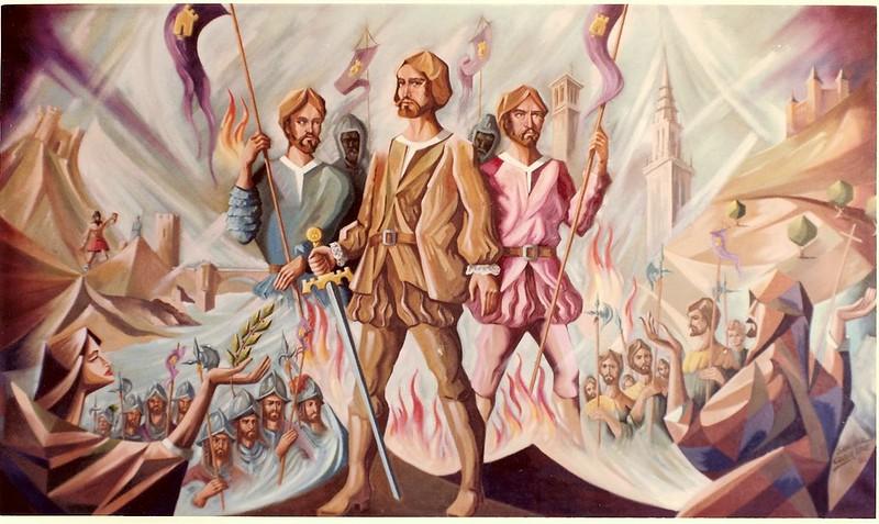 Precursores. Obra de Pedro Sánchez Colorado en homenaje a los Comuneros de Castilla que ganó un concurso de la Diputación de Toledo